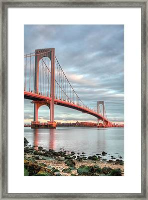 Across The Sound Framed Print by JC Findley