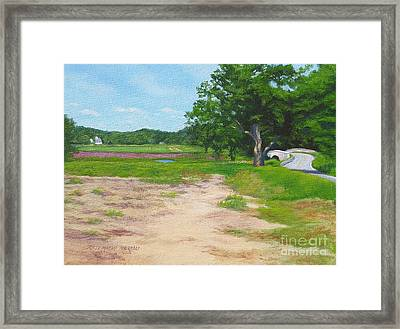 Across The Sudbury River Concord Massachusetts Framed Print by Rosemarie Morelli