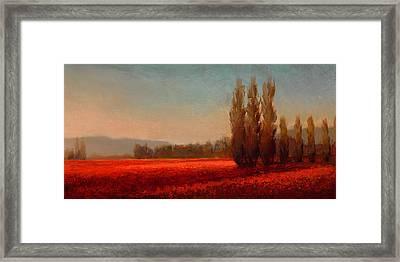 Across The Tulip Field - Horizontal Landscape Framed Print