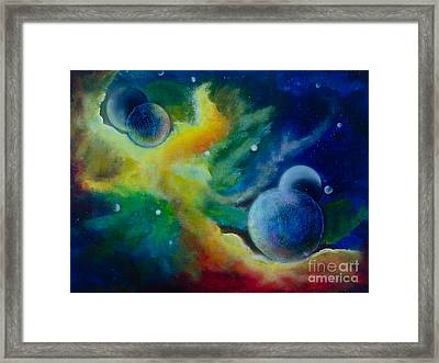 Across The Universe Framed Print by Deb Breton