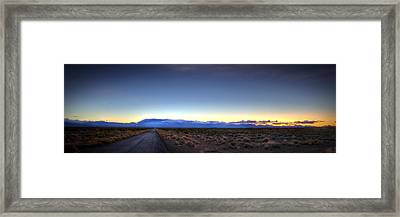 Across The Valley Framed Print