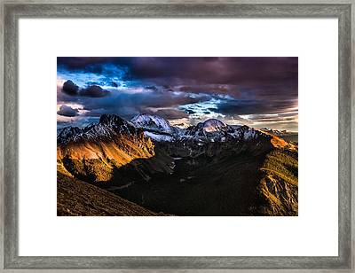 Across The Valley Framed Print by Steven Reed