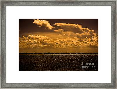 Across The Water Framed Print by Liesl Marelli