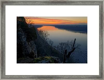 Across The Wide Missouri Framed Print by Robert Charity