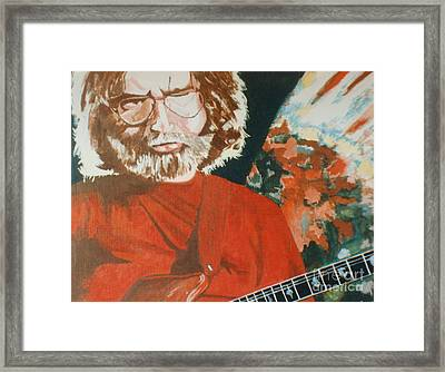 Framed Print featuring the painting Acrylic Jerry by Stuart Engel