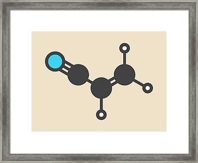 Acrylonitrile Molecule Framed Print by Molekuul