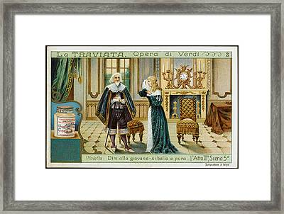 Act Two, Scene Five  Alfredo's Father Framed Print by Mary Evans Picture Library