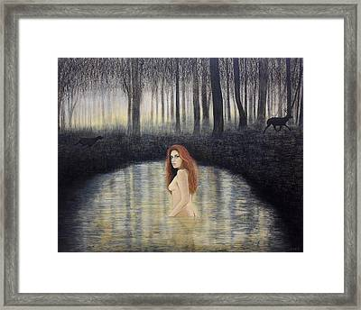 Actaeon And Artemis Framed Print