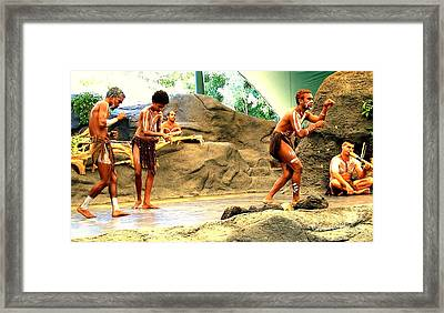 Acting The Culture Framed Print by John Potts