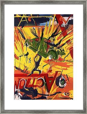 Action Abstraction No. 1 Framed Print by David Leblanc