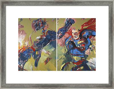 Action Abstraction No. 20 Framed Print by David Leblanc