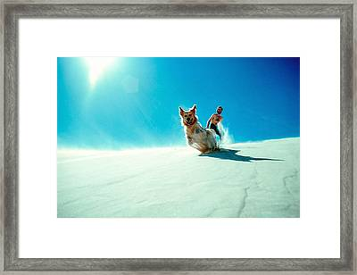 Action Framed Print by Kim Lessel