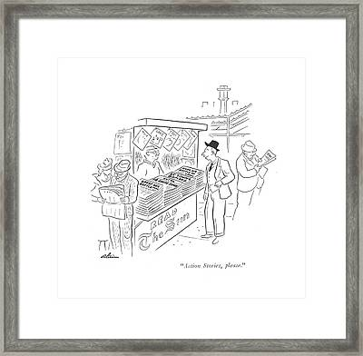 Action Stories Framed Print by  Alain
