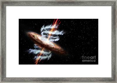 Active Galaxy Framed Print by Science Source
