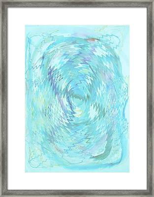Framed Print featuring the digital art Active Head Space by Phoenix De Vries