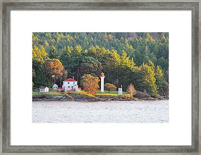 Active Pass Light House Framed Print