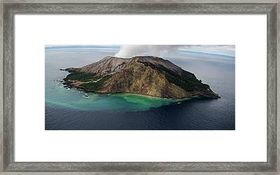 Active Volcanic Island, White Island Framed Print by Panoramic Images