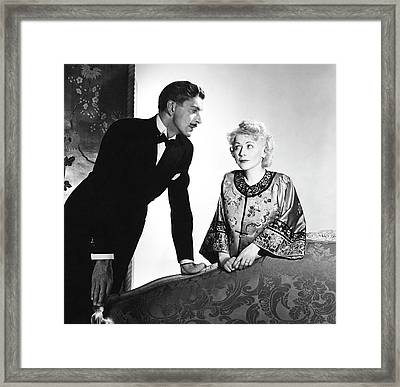 Actor Alan Napier And Actress Gladys George Framed Print
