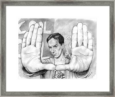 Actor Danny Pudi Framed Print