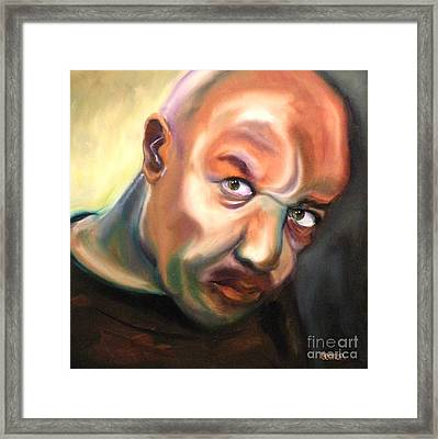Actor Delroy Lindo Framed Print by Susan A Becker
