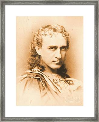 Actor Edwin Booth C1860 Framed Print
