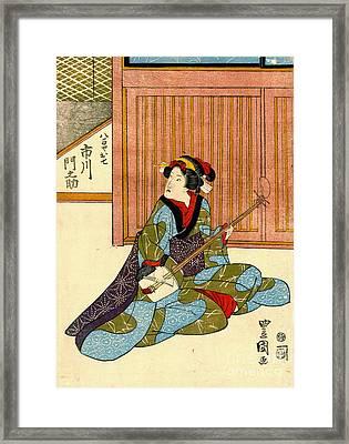Actor Ichikawa Monnosuke 1818 Framed Print