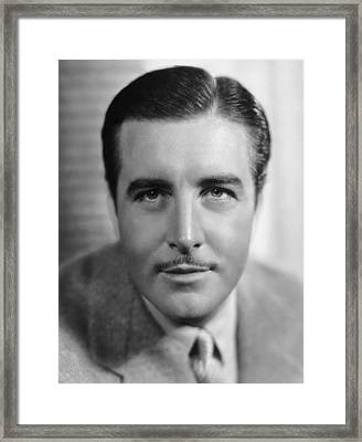 Actor John Boles Framed Print by Underwood Archives
