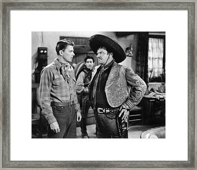 Actor Ronald Reagan Framed Print by Underwood Archives