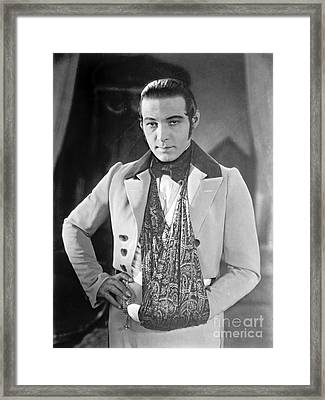 Actor Rudolph Valentino 1925 Framed Print by Padre Art