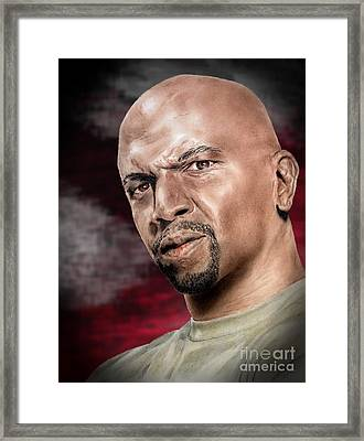 Actor Terry Crews II Framed Print by Jim Fitzpatrick