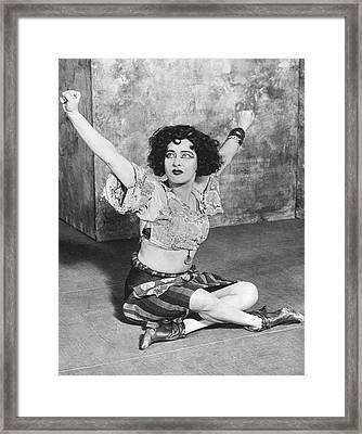 Actress Alla Nazimova Framed Print