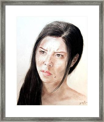 Actress And Beauty Jeananne Goossen Framed Print
