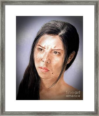 Actress And Beauty Jeananne Version II Framed Print