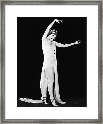 Actress As The Goddess Hera Framed Print