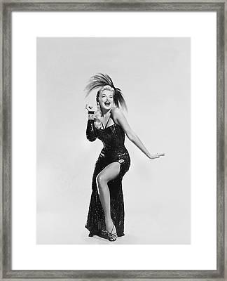 Actress Barbara Nichols Framed Print