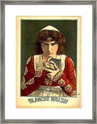 Actress Blanche Walsh 1899 Framed Print by Padre Art