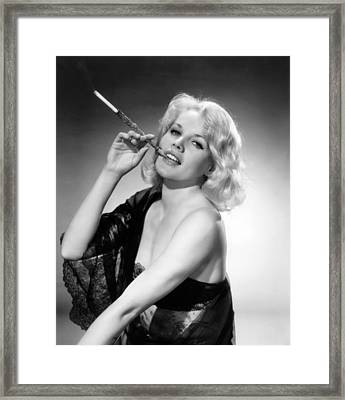 Actress Carroll Baker Framed Print by Underwood Archives