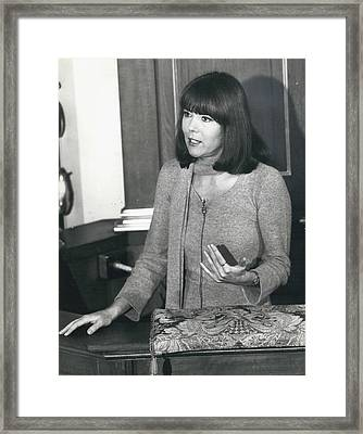 Actress Dina Rigg In Lunch Hour Dialogue At St. Mary-le-bow Framed Print by Retro Images Archive