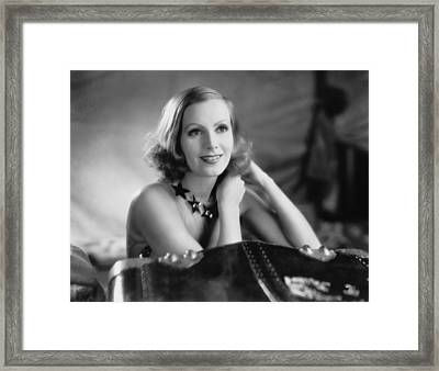 Actress Greta Garbo Framed Print