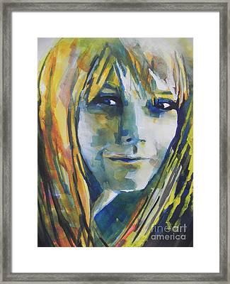 Actress Gwyneth Paltrow Framed Print by Chrisann Ellis