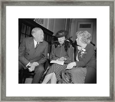 Actress Helen Hayes Urges U.s Framed Print