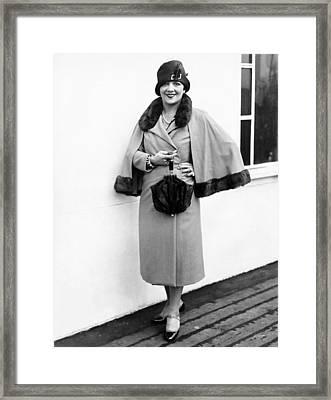 Actress Irene Bordoni Framed Print by Underwood Archives