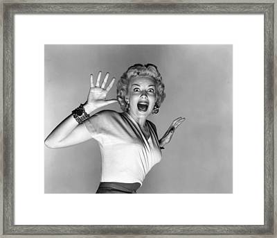 Actress Kathleen Hughes Framed Print by Underwood Archives
