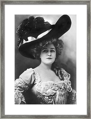 Actress Lillian Russell Framed Print