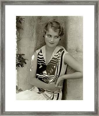 Actress Lois Moran Framed Print