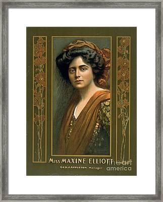 Actress Maxine Elliott 1905 Framed Print by Padre Art