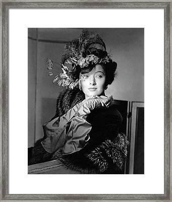 Actress Myrna Loy Framed Print