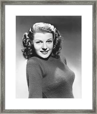 Actress Rita Hayworth Framed Print by Underwood Archives
