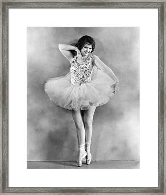 Actress Sally Starr Framed Print by Underwood Archives