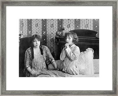 Actress Sarah Bernhardt Framed Print